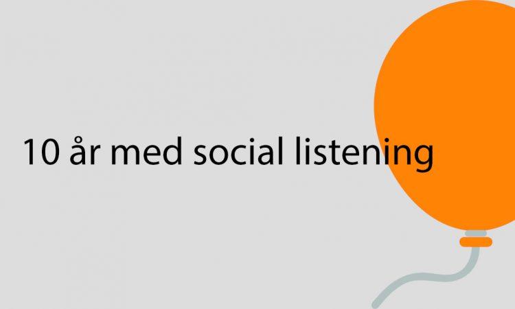 10 år med social listneing Overskrift fylder 10 år