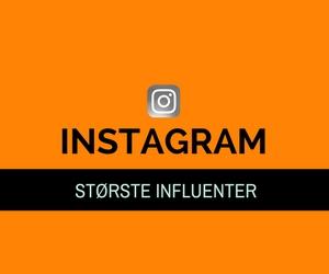 Danmarks største influencers på Instagram