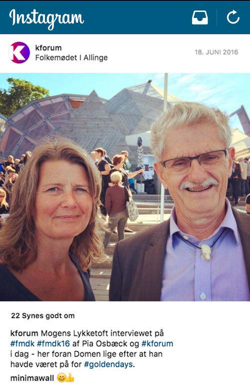 kforum instagrambillede Folkemøde 2016